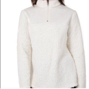 White Fuzzy Sweater! 🦋